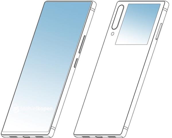 中兴手机外观设计专利曝出 双屏幕设计方案/无外置摄像镜头/高屏幕比例
