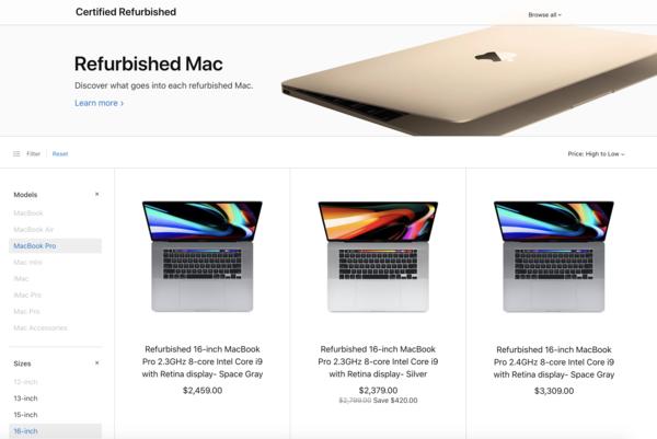 官翻版16英寸MacBook Pro发布 特惠15%更具有性价比高