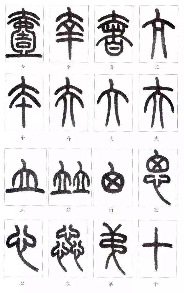 王福庵《说文部首》,初学篆书必备