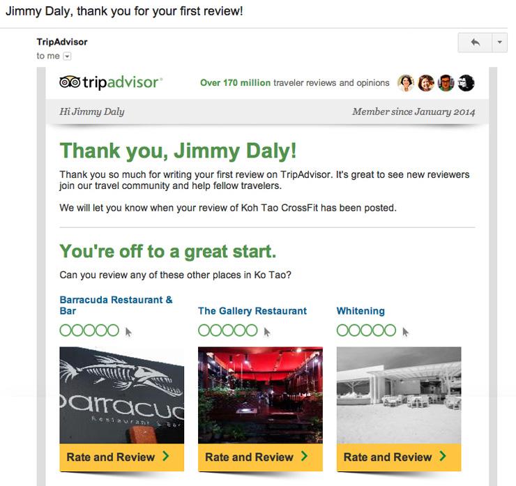 Tripadvisor 如何用邮件营销收割用户?