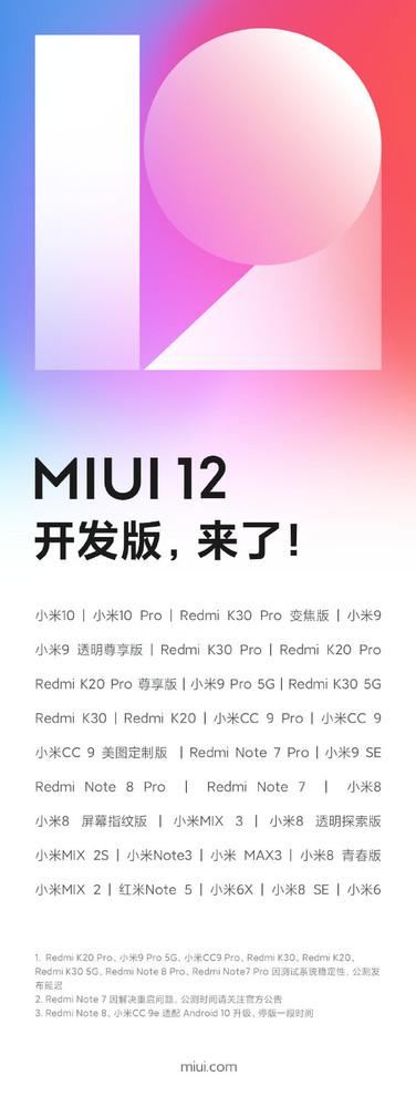 小米6钉子户福利!32款型号迈入MIUI12开发版升級