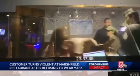 美国一中餐厅因要求戴口罩遭暴力打砸,其中有警察,无人被捕