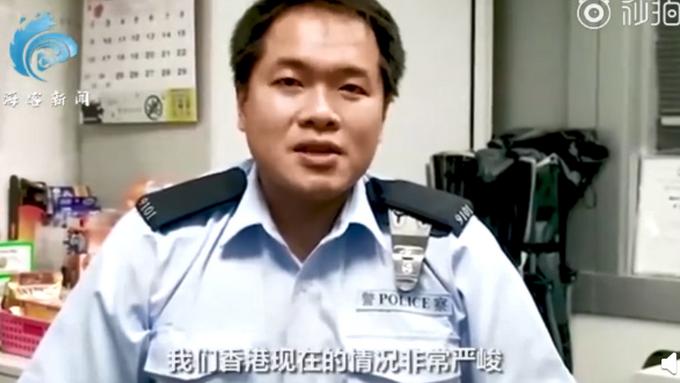 多名港警录视频致谢,光头刘sir用港普祝福援港医护:要保护好自己