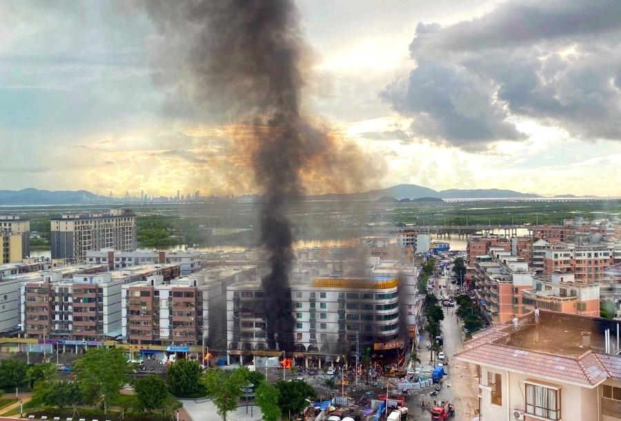 广东珠海一酒店附近发生爆炸