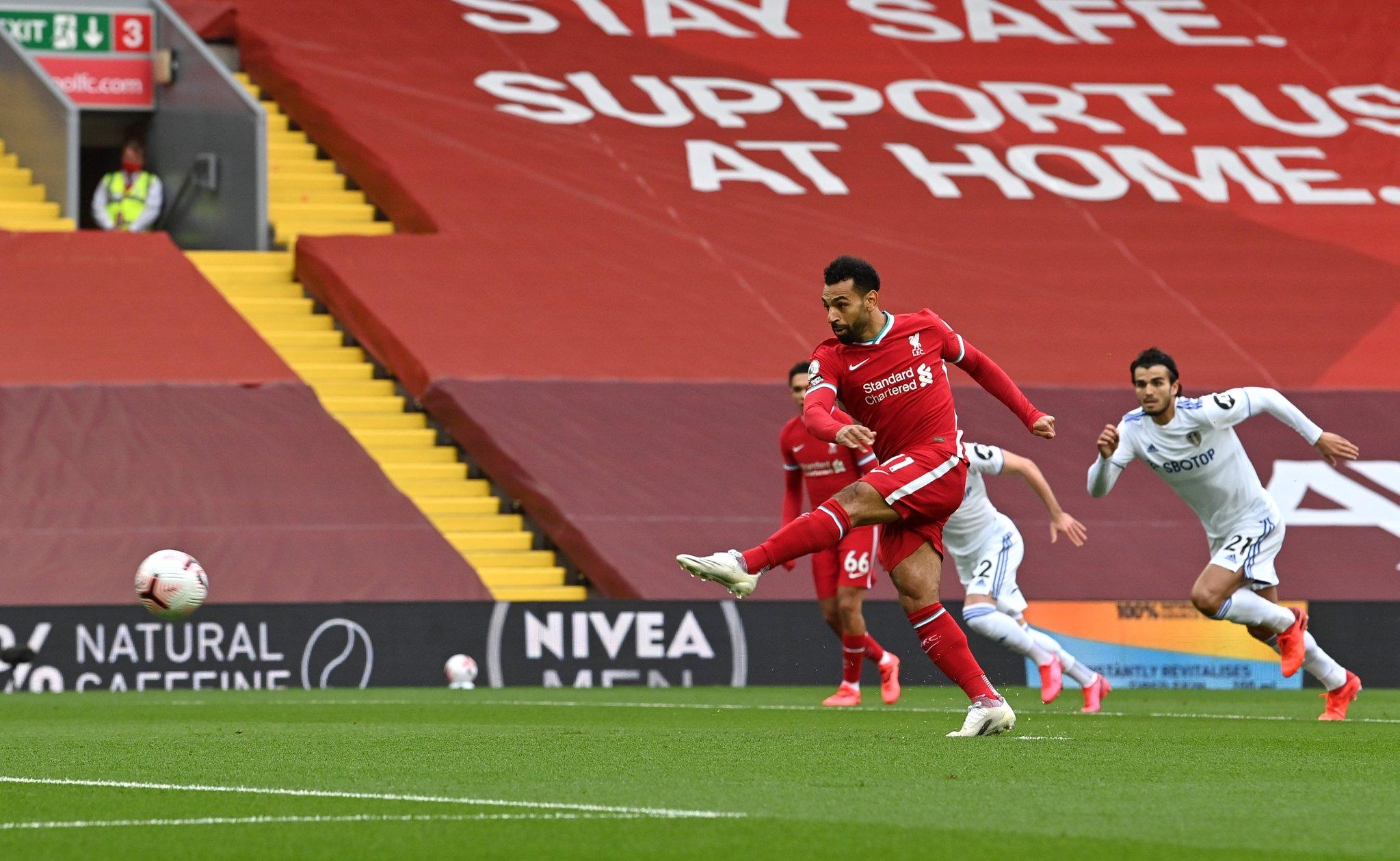 连续4个赛季英超首轮均进球,萨拉赫成利物浦队史第一人