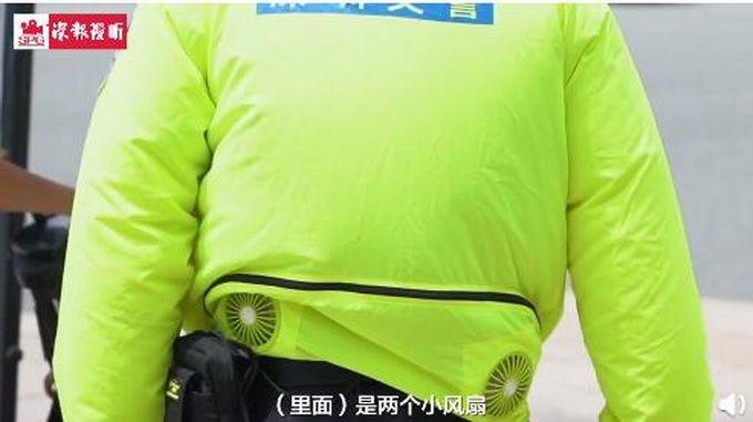 深圳交警上线小风扇制服,网友:好可爱,不仔细看还以为是小肚腩