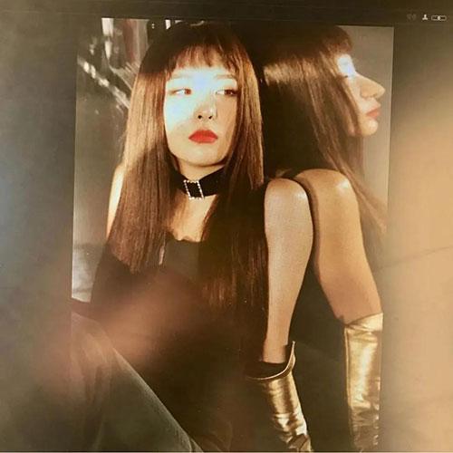 韩国SM唯一单眼皮女Idol,又慵懒又飒的穿搭高手