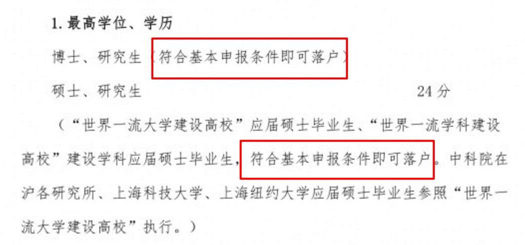 符合这些条件即可直接落户上海