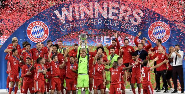 击败塞维利亚捧起欧洲超级杯 拜仁23连胜创纪录