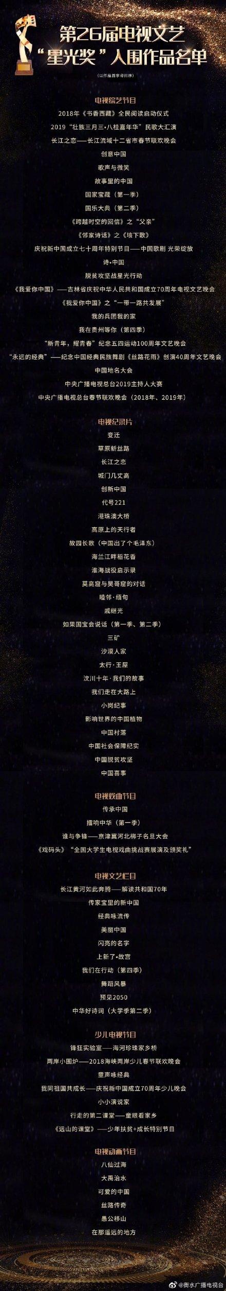 """第32届电视剧""""飞天奖""""即将揭晓,陈宝国、张嘉益、孙俪、郎朗、易烊千玺等出席"""