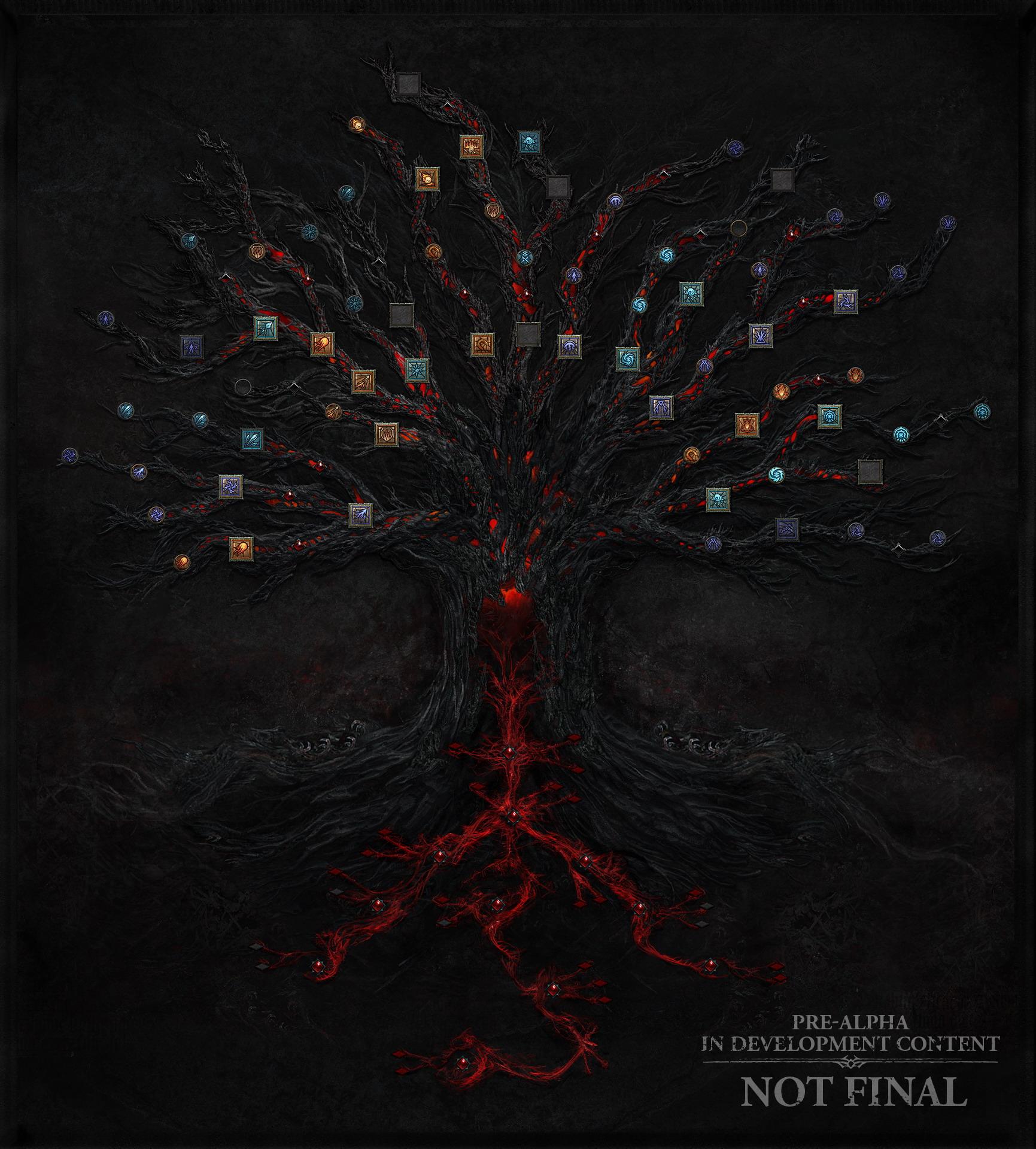 《暗黑破坏神4》4季度更新 展示游戏技能树