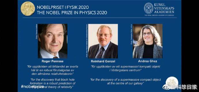重磅!2020年度诺贝尔物理学奖揭晓