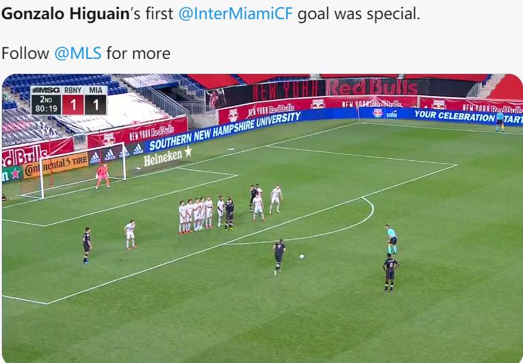 技术扶贫!伊瓜因MLS进任意球,欧洲联赛出场428次没进过