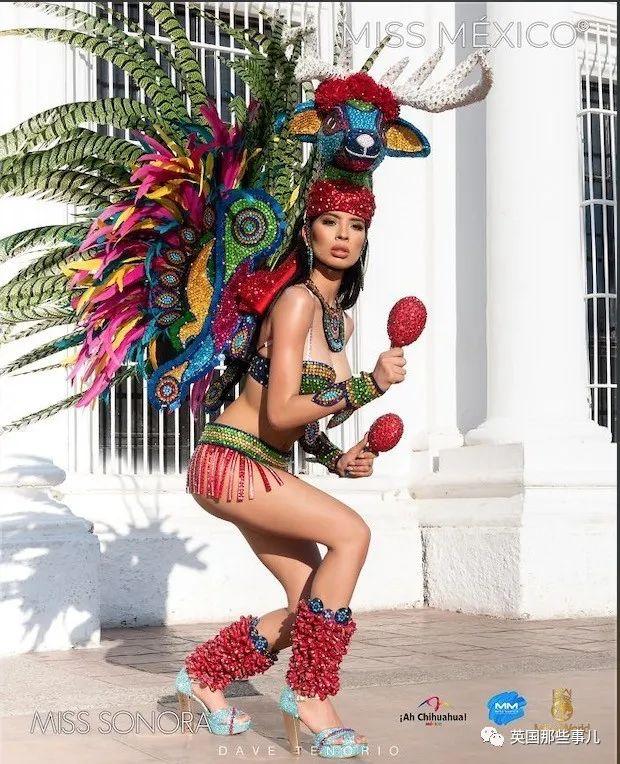 墨西哥小姐选美,各种华丽传统服饰,第一个就帅到我了