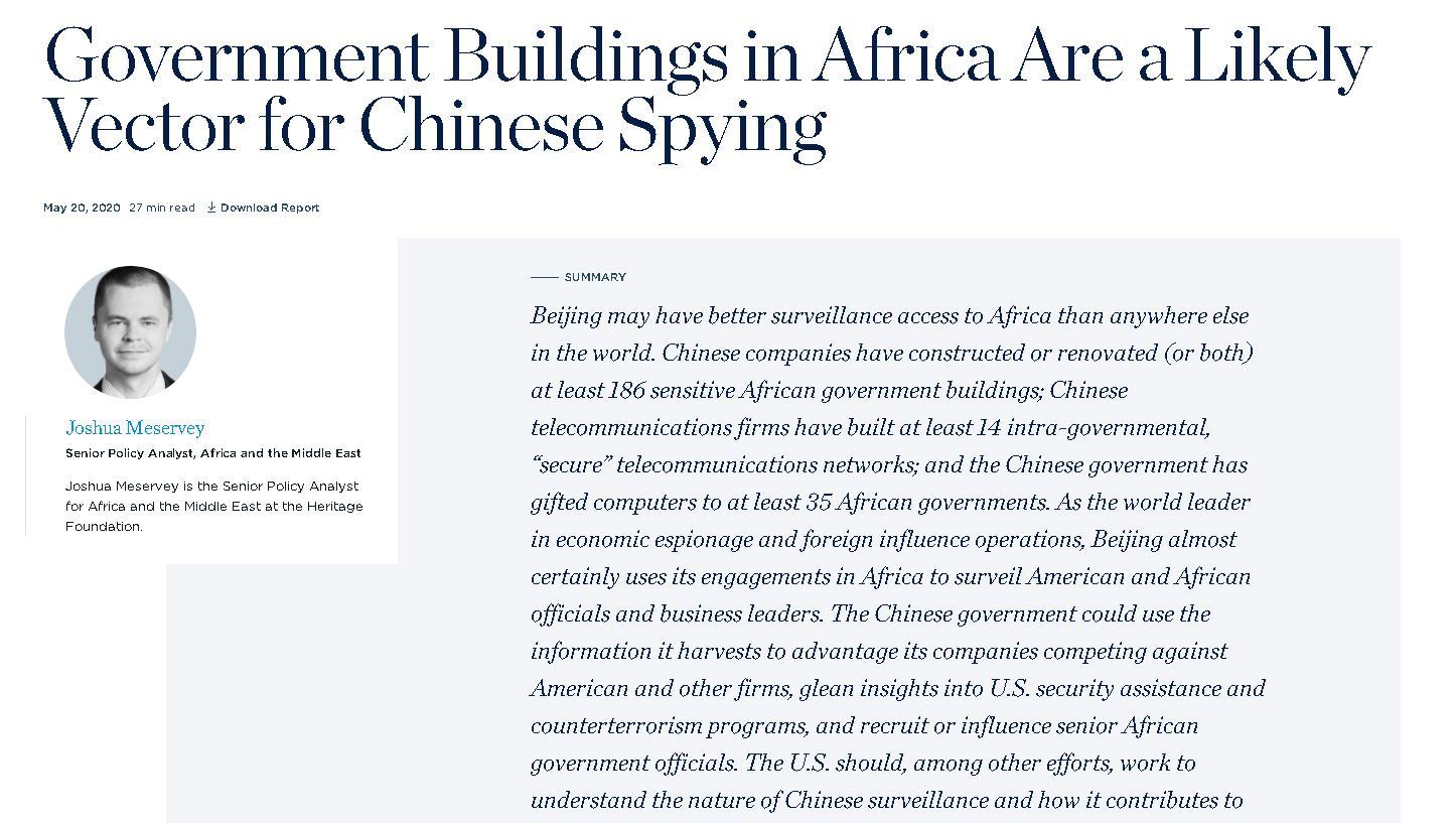 """""""中国窃听非洲""""谬论再起 非洲媒体和学者批驳毫无根据"""