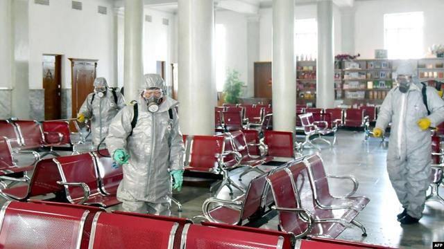 担心沙尘暴携带病毒?朝鲜平壤街头几乎空无一人