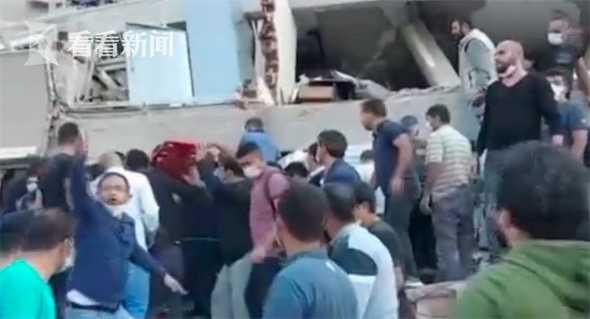 爱琴海海域发生6.6级地震 土耳其多栋房屋倒塌