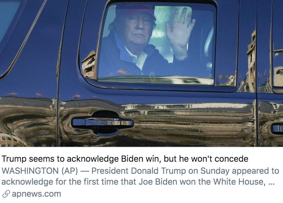 """特朗普推特发文:""""我赢得了大选"""""""