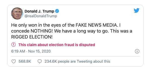 美国大选后 100万人离开了推特