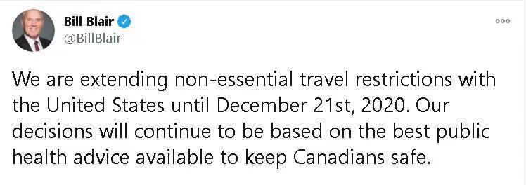 """疫情凶猛!加拿大也扛不住了:最大城市多伦多将再度""""封城"""",加美边境关闭再次被延长…"""