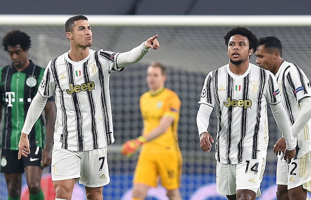 欧冠:C罗破门莫拉塔中柱+绝杀,尤文2-1费伦茨瓦罗斯