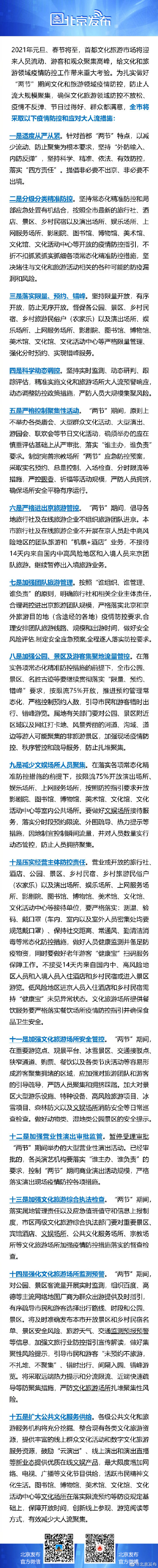 """""""两节""""期间北京原则上不举办庙会等节日文化活动,严控进出京旅游"""