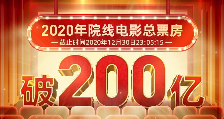 2020年度票房突破200亿 八佰31亿排第一