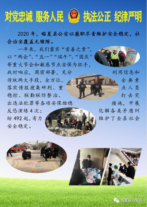 【向人民报告】临夏县公安局2020年工作纪实