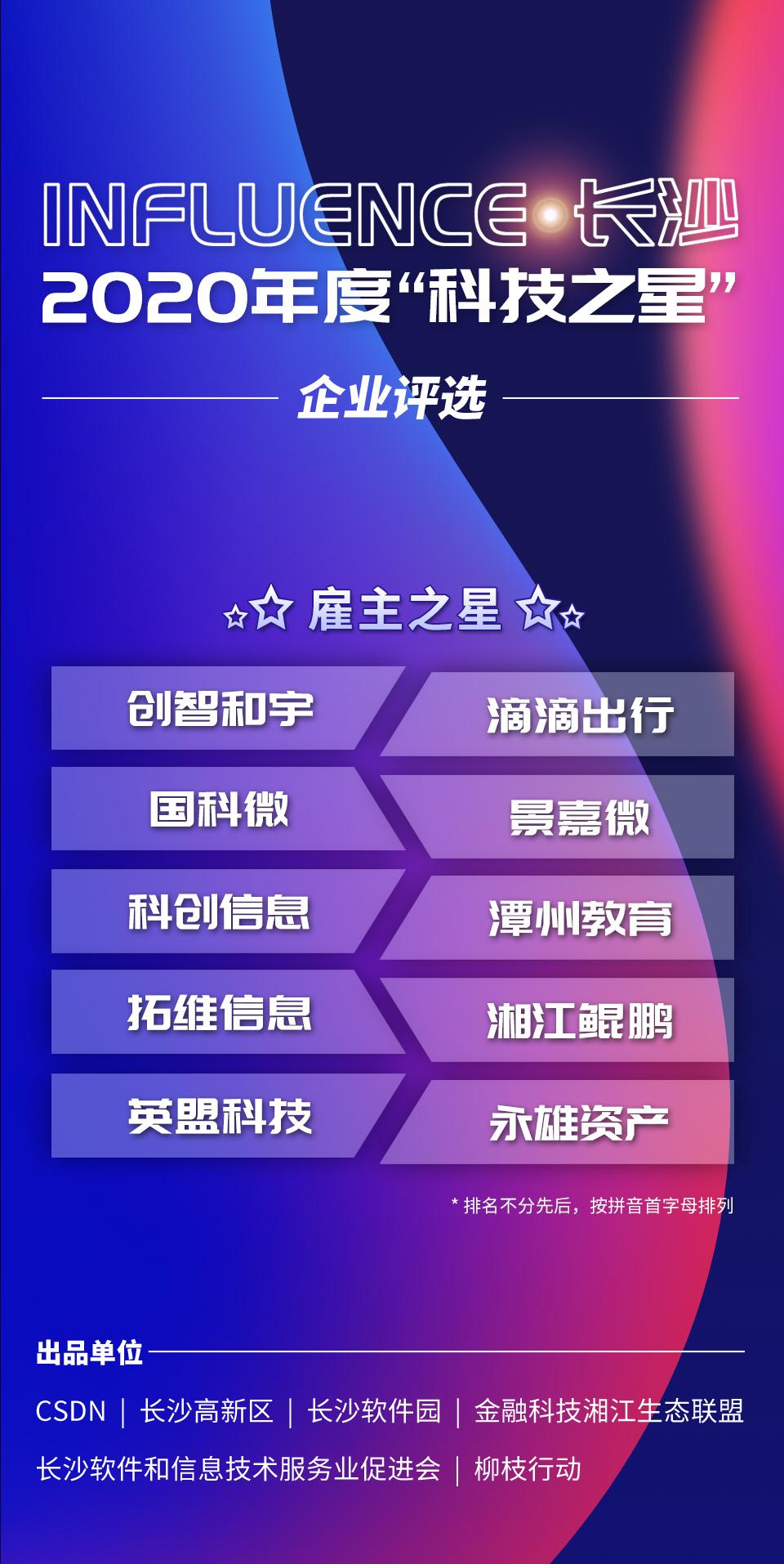 """2020长沙""""科技之星""""榜单重磅揭晓,近百家企业凭实力""""出道"""""""
