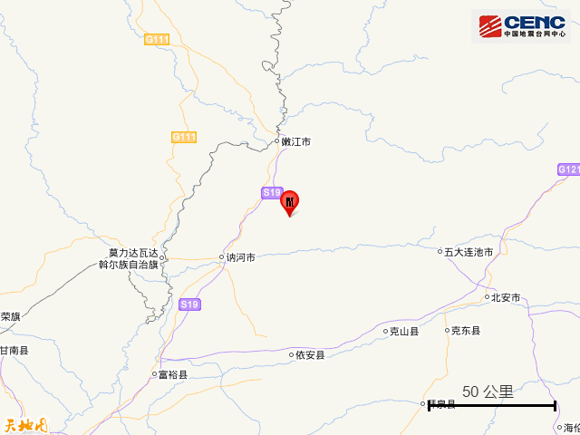2020地震最新消息今天:黑龙江一地清晨3时38分突发地震