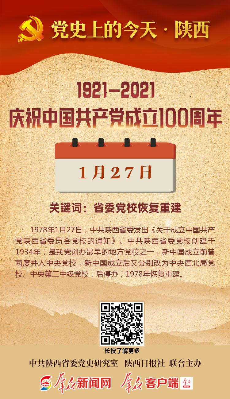 党史上的今天·陕西(1月27日)
