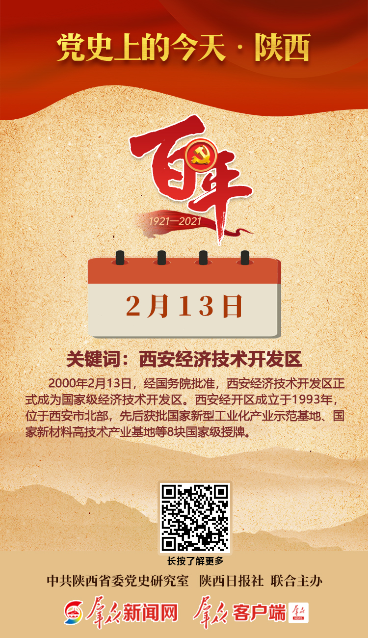 党史上的今天·陕西(2月13日)