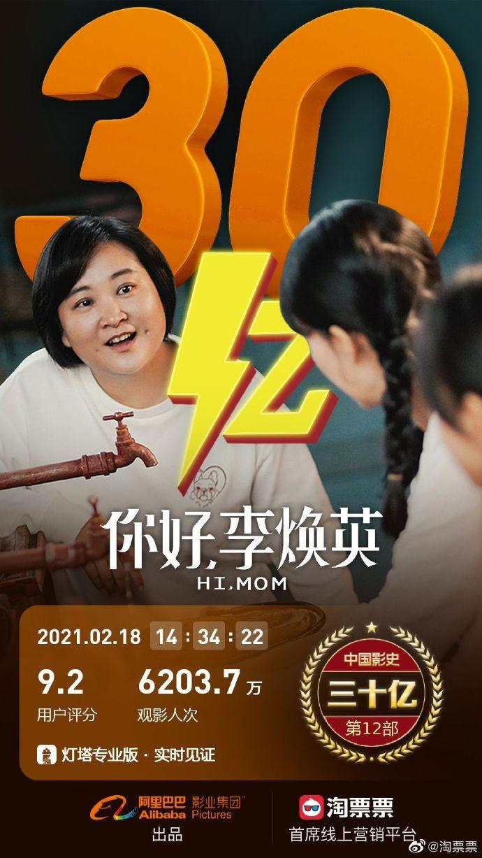 """《你好,李焕英》票房破30亿,贾玲笑言""""已经开始减肥了"""""""