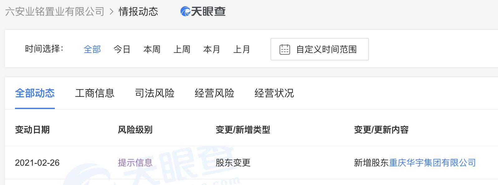 华宇集团在安徽六安成立了房地产公司,注册资金2.5亿元