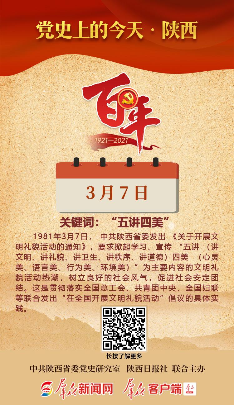 党史上的今天·陕西(3月7日)