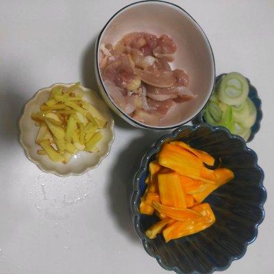 吃过都说好的菠萝蜜鸡胸肉 美食做法 第1张