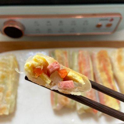 饺子皮春卷 颜值高味道 美食做法 第6张