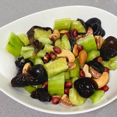 坚果木耳拌黄瓜,脆爽又可口 孕妇菜谱做法 第8张