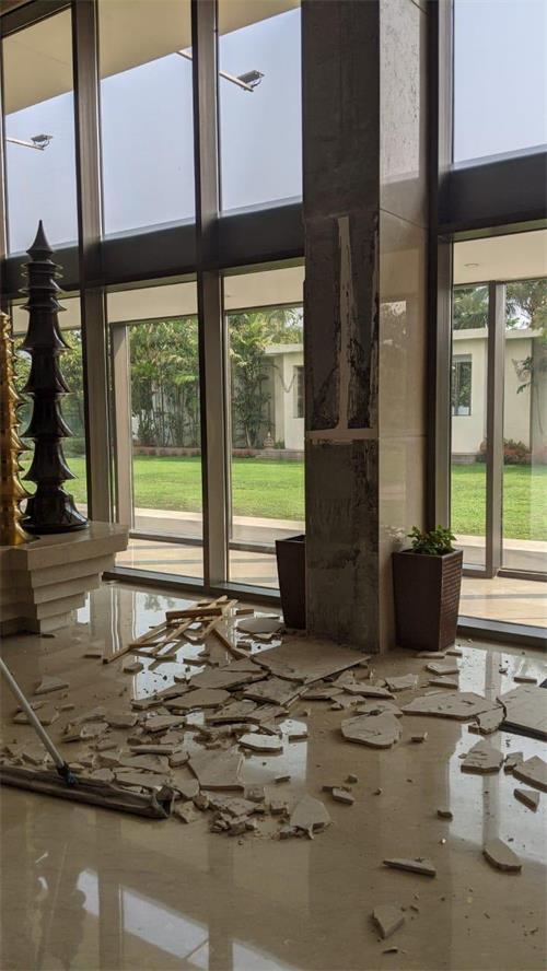 印度阿萨姆邦发生6.4级地震 当地部分建筑出现裂缝