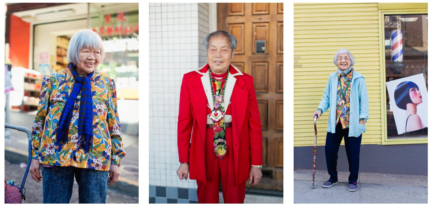 记录华裔老人穿搭和经历 写真集《唐人街俏佳人》受关注
