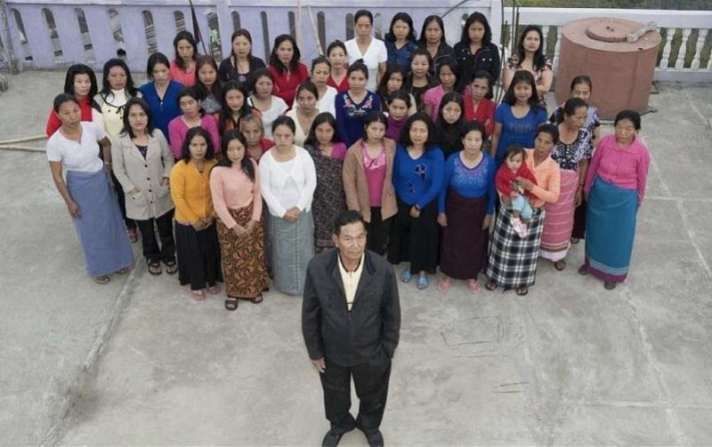 """""""世界最大家庭""""户主在印度去世,留下39个妻子94个子女"""