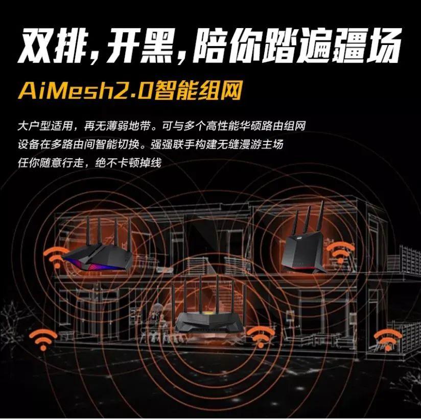 "WiFi 6路由中的""电竞特工"",TUF GAMING AX5400开���图�? inline="