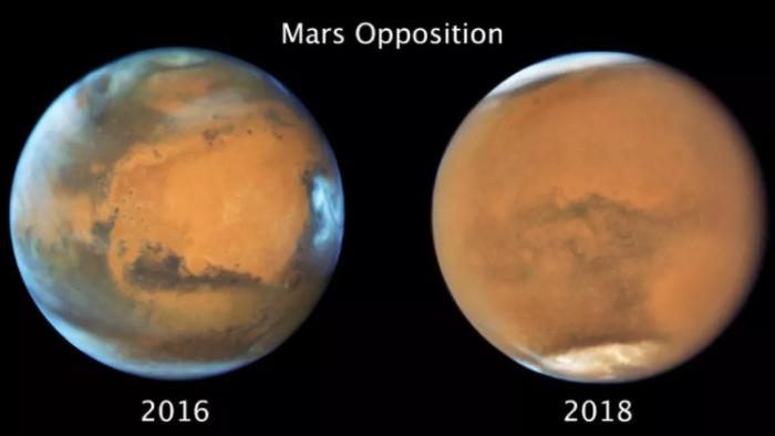 2018年全球性沙尘暴事件使得火星南半球的冬天提前结束-第1张图片-IT新视野