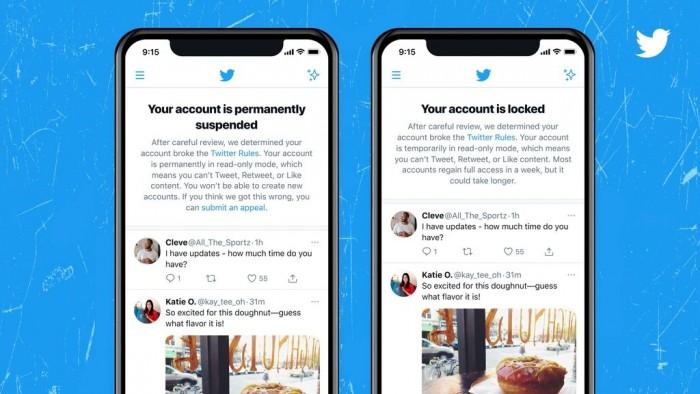 Twitter正测试新横幅:让你更清楚知道你的账户为何会被锁定或者停用