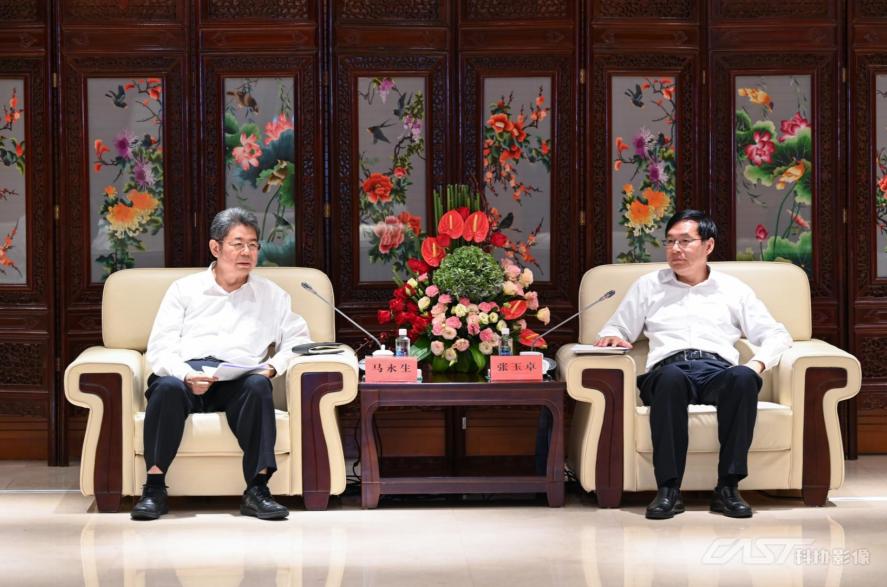 张玉卓会见中石化集团总经理马永生一行
