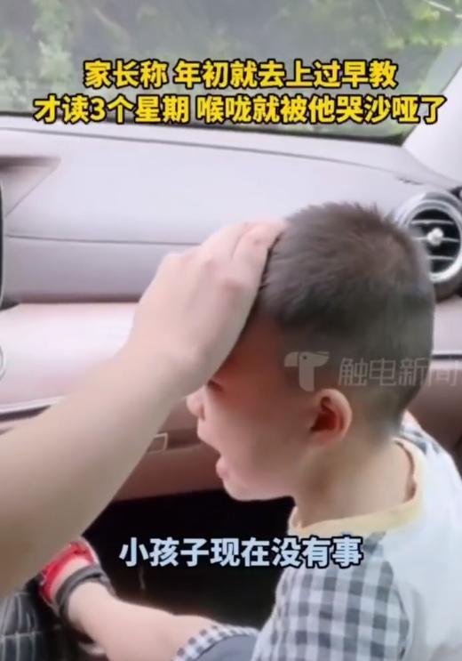2岁宝宝不愿上早教撞裂挡风玻璃,嗓子都哭哑了