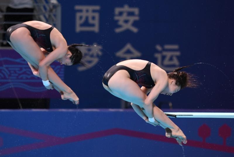 """全运会女子跳水团体决赛""""神仙打架"""",全红婵率领广东队夺冠"""