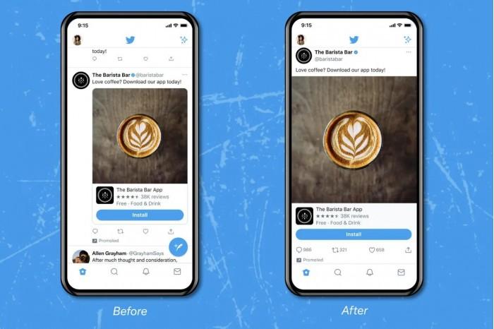 Twitter宣布启动无边框(edge-to-edge)媒体体验