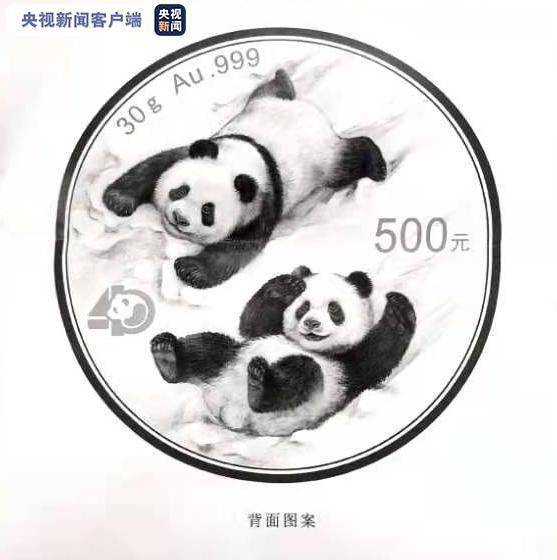 2022版熊猫金币图案今天向社会发布