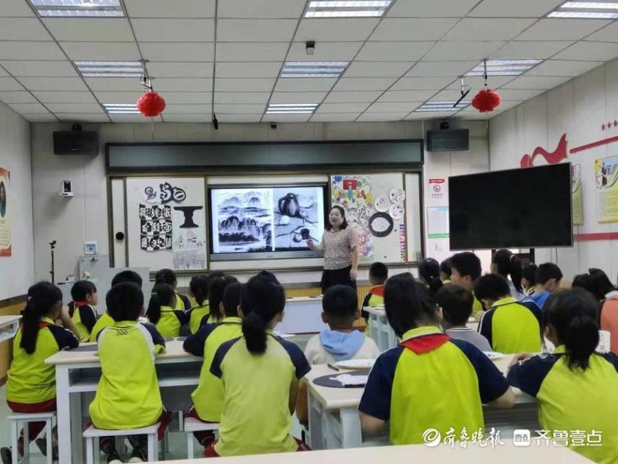 东昌府区张炉集镇中心小学开展美术教研活动